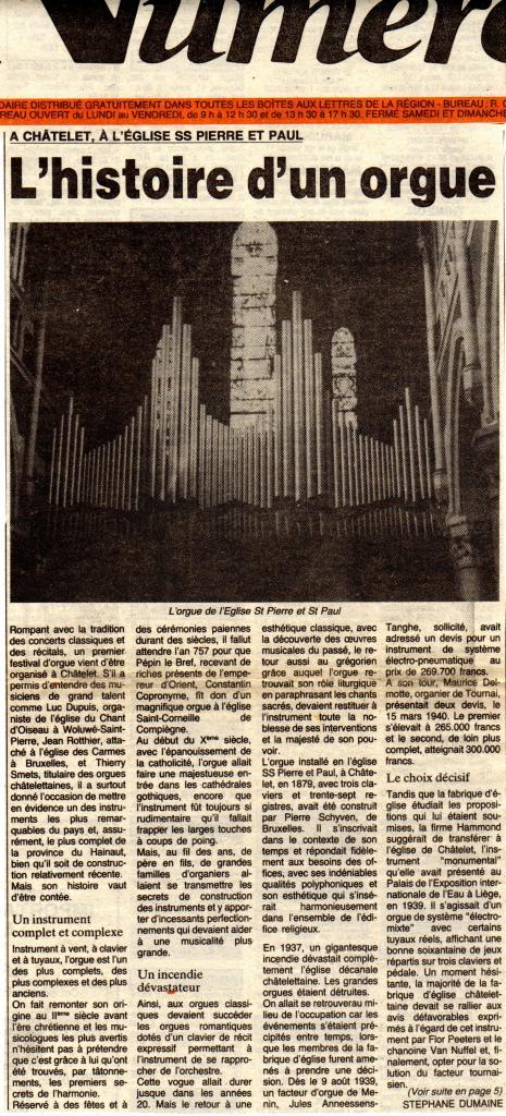 L'histoire d'un orgue