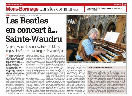La Province Th.Smets Beatles 03-09-10