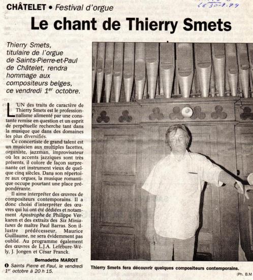 Le chant de Th. Smets