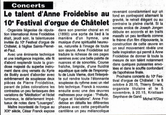 Le talent D'A. Froidebise
