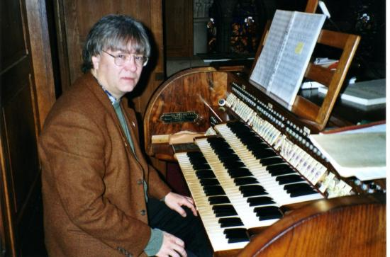 Thierrry Smets à l'orgue