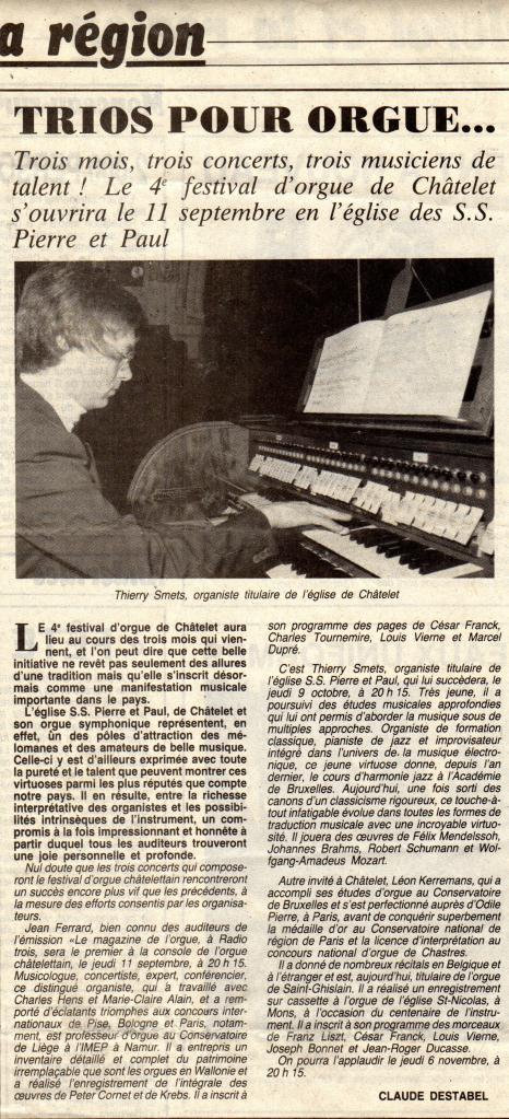 Trios pour orgue