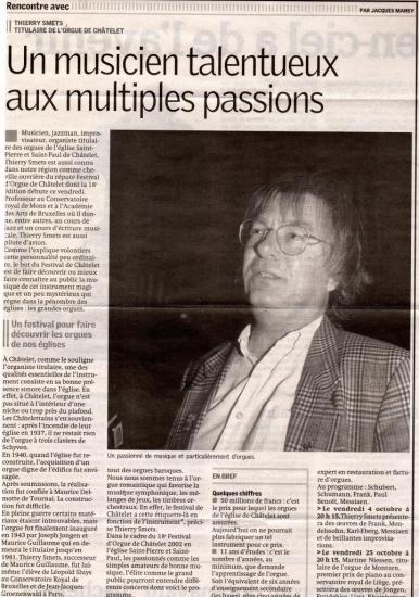 Un musicien talentueux aux multiples passions